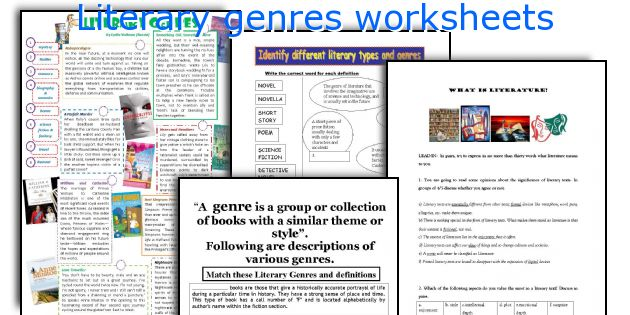 Identify different literary types and genres