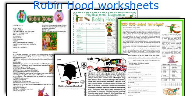 robin hood story summary for kids