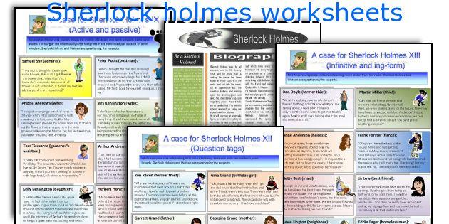 Sherlock holmes worksheets