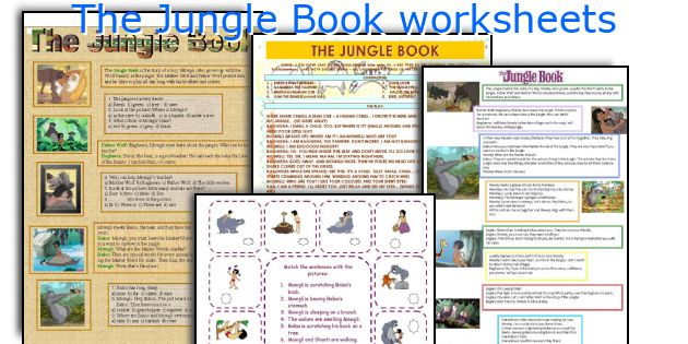 English teaching worksheets: The Jungle Book