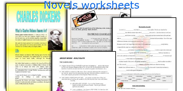 Novels worksheets