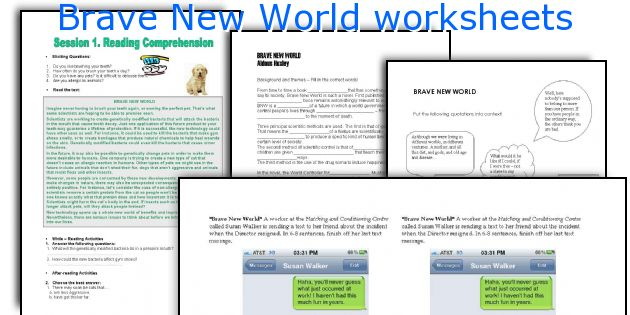 Brave New World worksheets