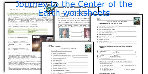 Journey to the Center of the Earth worksheets