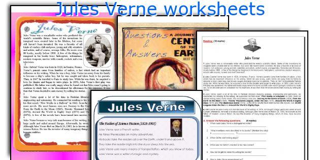 Jules Verne worksheets