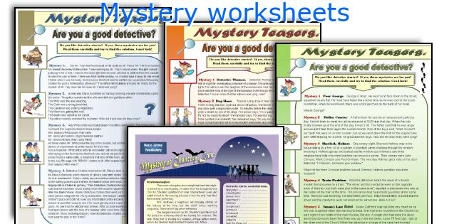 English teaching worksheets Mystery – Mystery Picture Worksheets