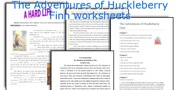 The Adventures of Huckleberry Finn worksheets