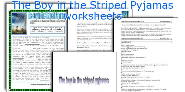 The Boy in the Striped Pyjamas worksheets