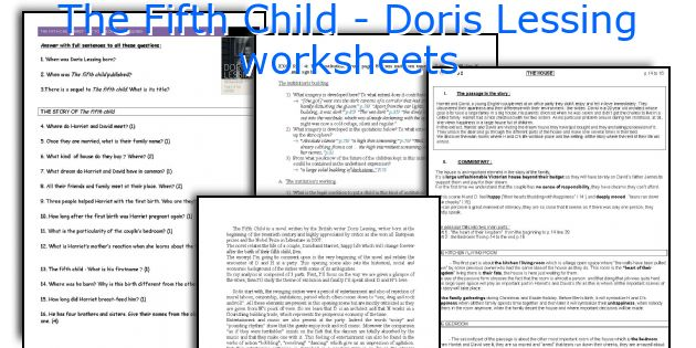 The Fifth Child - Doris Lessing worksheets
