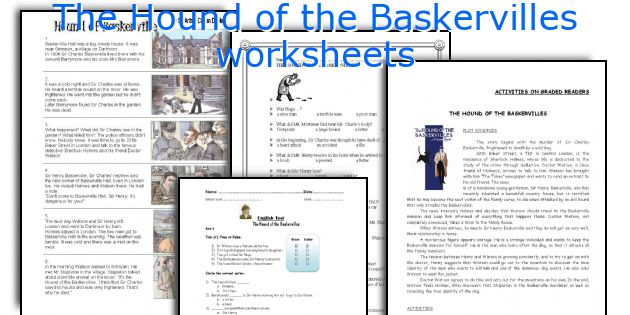 The Hound of the Baskervilles worksheets