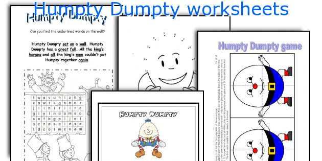 Humpty Dumpty worksheets