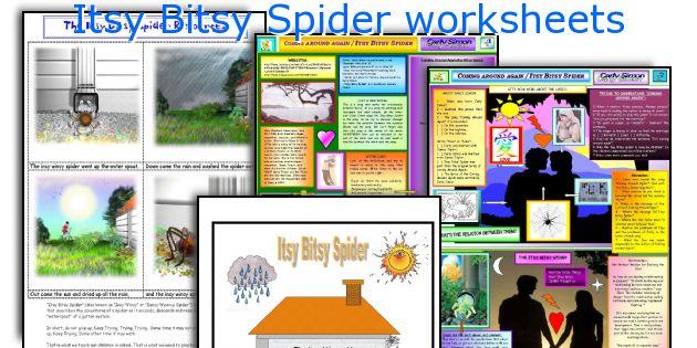 Itsy Bitsy Spider worksheets