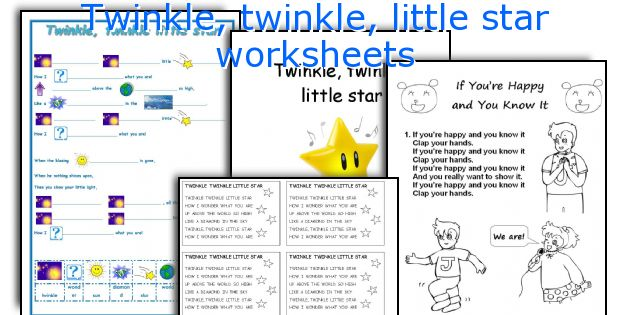 Twinkle, twinkle, little star worksheets