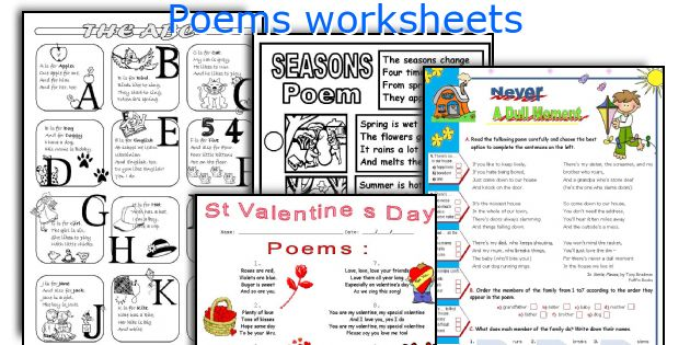 Poems worksheets