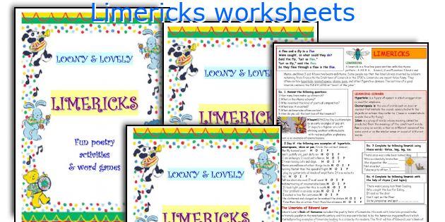 Limericks worksheets