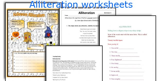 All Worksheets alliteration worksheets : English teaching worksheets: Alliteration