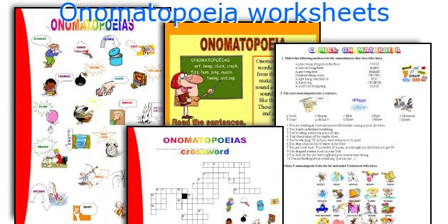 English teaching worksheets Onomatopoeia – Onomatopoeia Worksheets