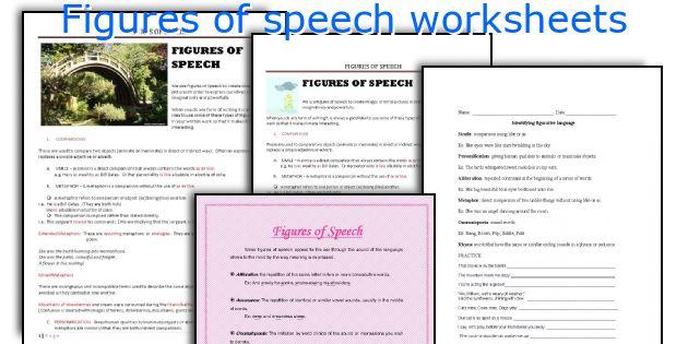 figures of speech worksheets. Black Bedroom Furniture Sets. Home Design Ideas
