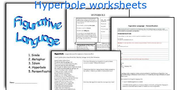 English teaching worksheets Hyperbole – Hyperbole Worksheet