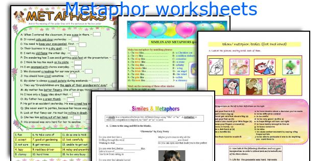 English teaching worksheets Metaphor – Metaphor Worksheets