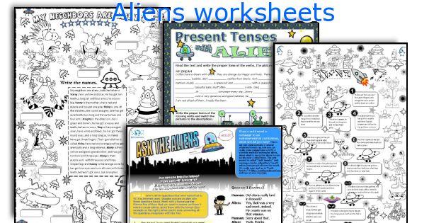 Aliens worksheets