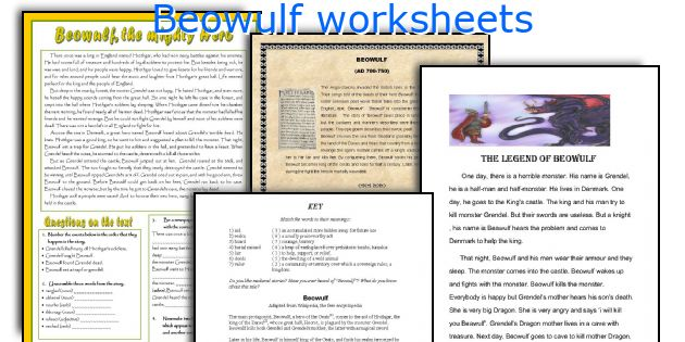 Beowulf worksheets