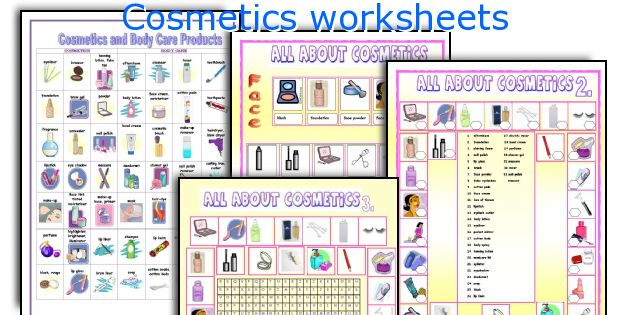 Cosmetics worksheets