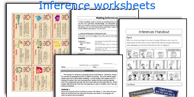English teaching worksheets Inference – Inferences Worksheets