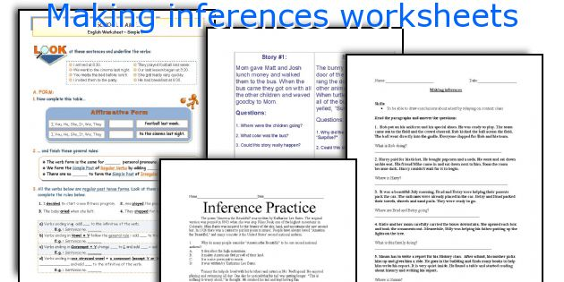 English teaching worksheets Making inferences – Inferences Worksheets