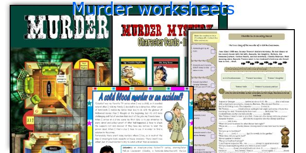 Murder worksheets