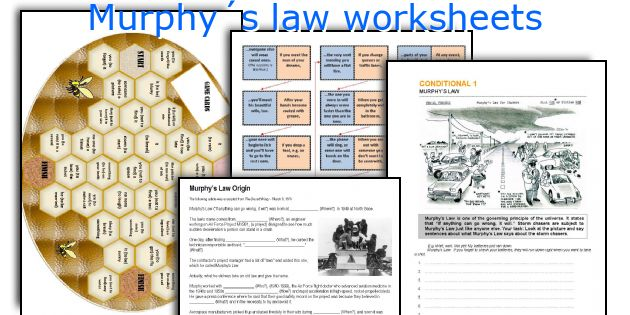 Murphy´s law worksheets