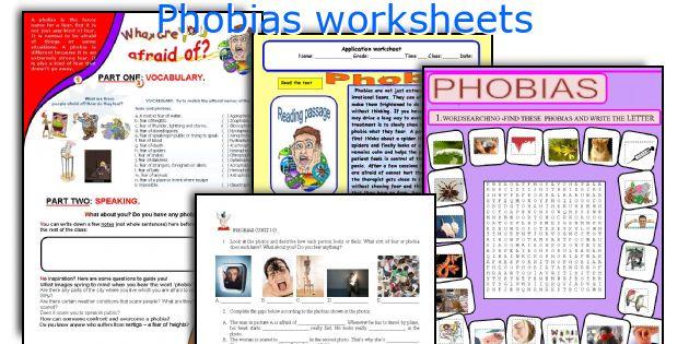 Phobias worksheets