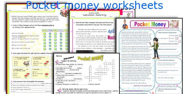 Pocket money worksheets