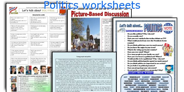 Politics worksheets