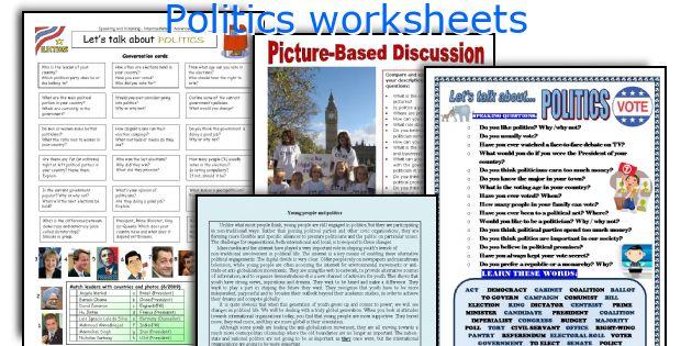 Politics worksheets