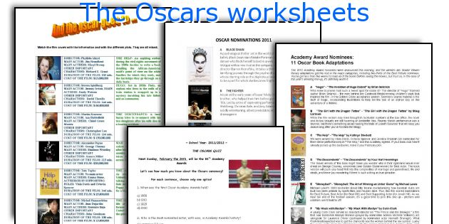 The Oscars worksheets