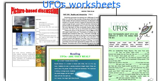 UFOs worksheets