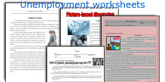 Unemployment worksheets