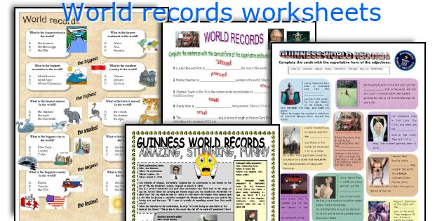World records worksheets