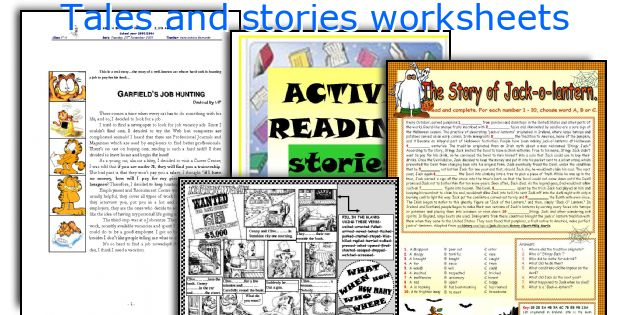 Tales and stories worksheets