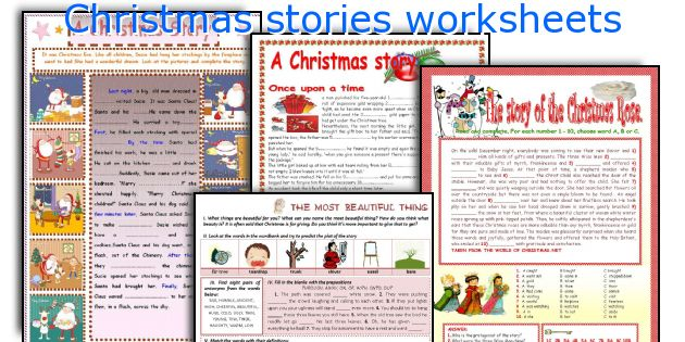 Christmas stories worksheets