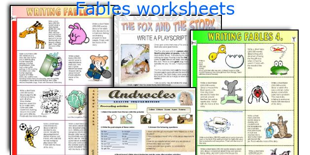 English teaching worksheets Fables – Fables Worksheets