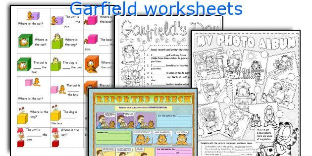 Garfield worksheets