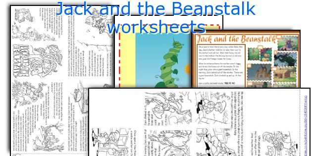 English Teaching Worksheets Jack And The Beanstalk