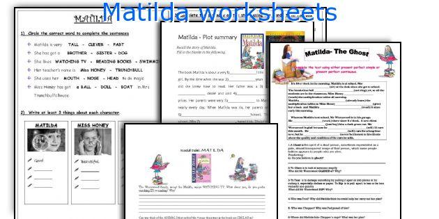 Matilda Worksheets