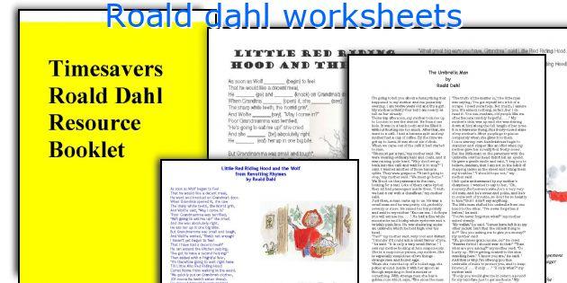 Roald Dahl Worksheets