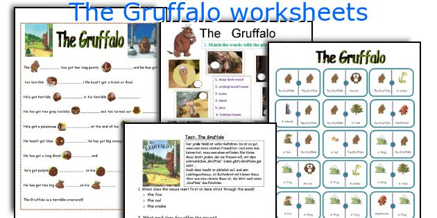 The Gruffalo Worksheets