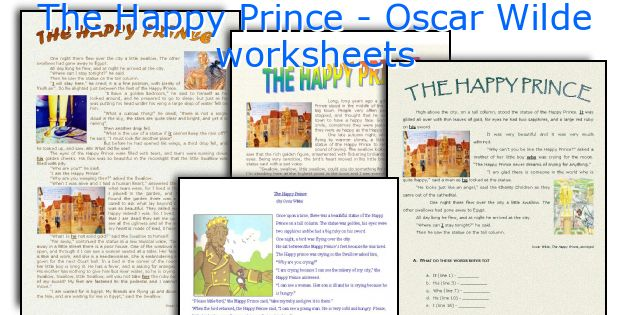 The Happy Prince Oscar Wilde Worksheets