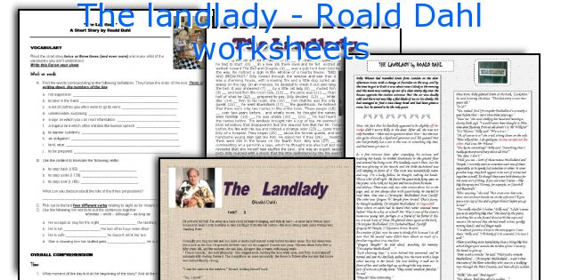 Essay on the landlady