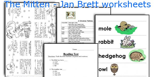 Jan Brett Mitten Worksheets For Kindergarten | www.imagenesmi.com