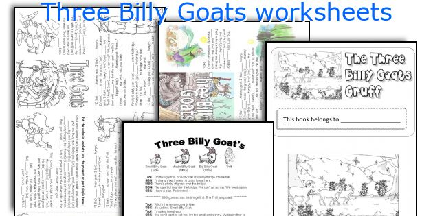image about Three Billy Goats Gruff Story Printable referred to as A few Billy Goats worksheets
